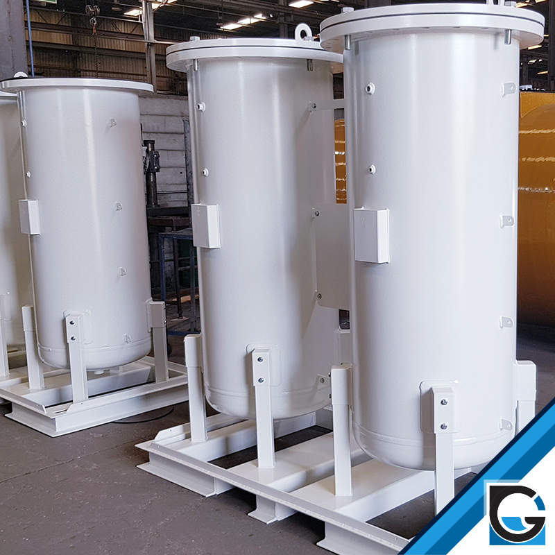 oxygen or nitrogen generating columns